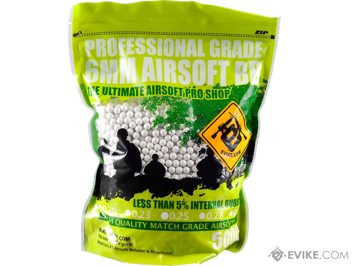 Evike MAX Precision 6mm Airsoft BBs (Weight: .20g / 5000 Rounds / White)