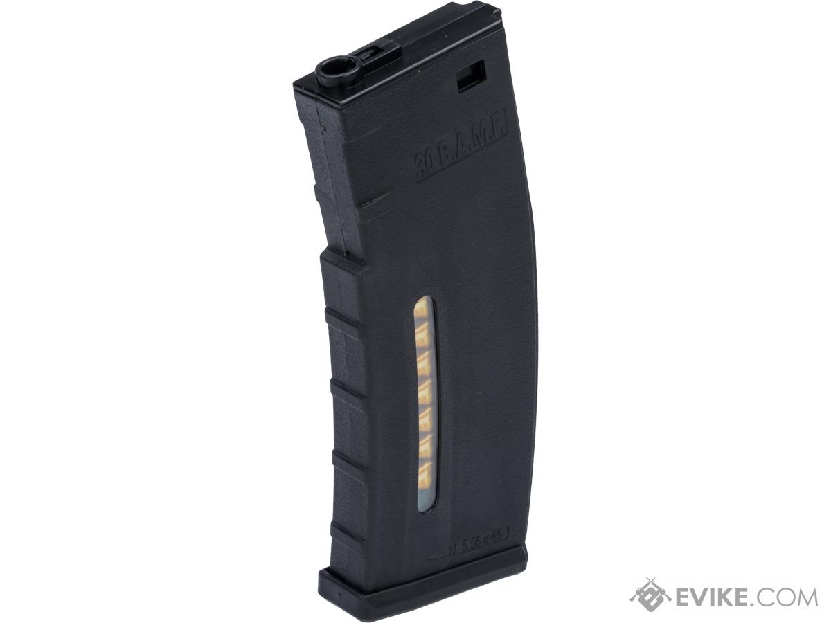 Evike.com BAMF 190rd Polymer Mid-Cap Magazine for M4 / M16 Series Airsoft AEG Rifles (Color: Black / Single Magazine)