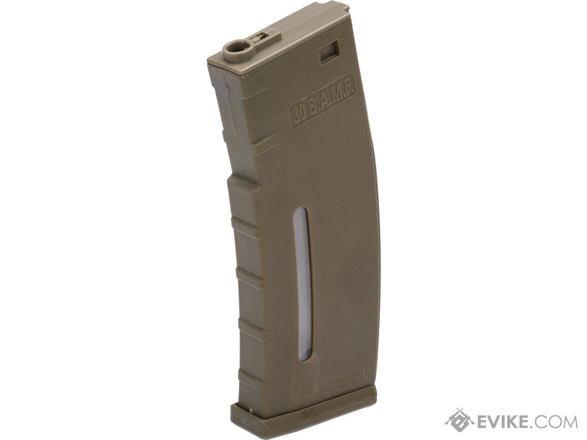 Evike.com BAMF 190rd Polymer Mid-Cap Magazine for M4 / M16 Series Airsoft AEG Rifles (Color: Tan / Single Magazine)