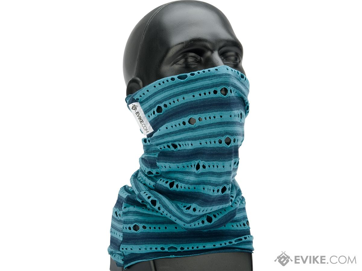 Evike.com Sunscreen All Terrain Face Shield / Neck Gaiter by Battle Angler (Color: Blue)