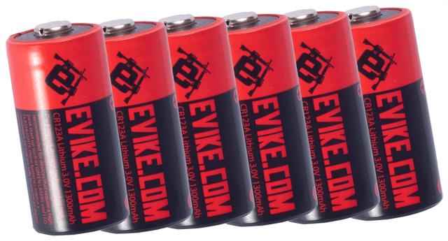 Evike.com High Performance CR123A 3V Lithium Battery (Package: Pack of 6)