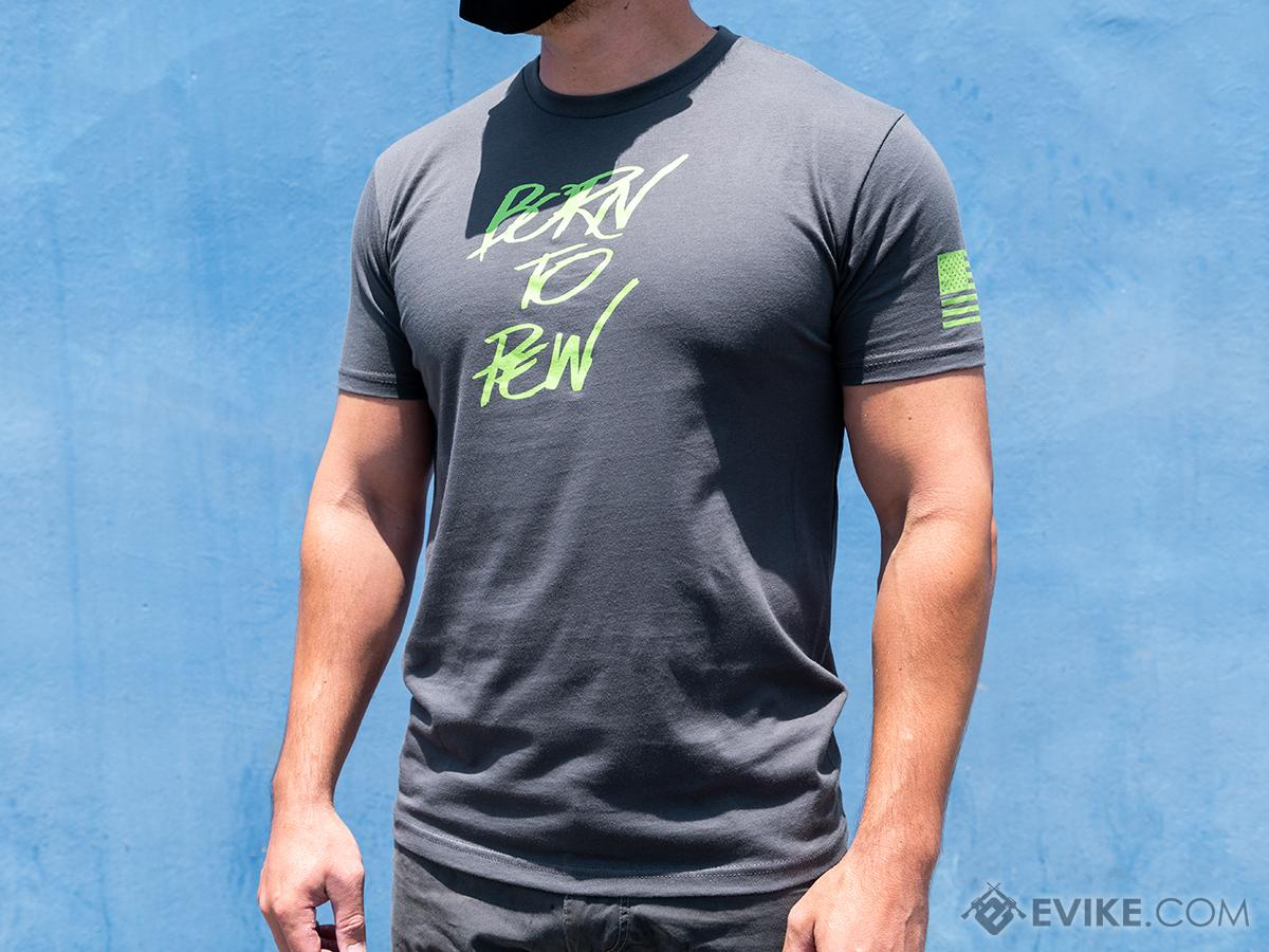 Evike Exclusive Born to Pew Casual Graphic Tee (Size: Medium)