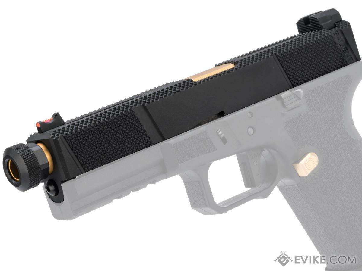 EMG SAI Utility Slide Set for EMG SAI BLU Series GBB Pistols (Type: Black Slide / Gold Barrel)