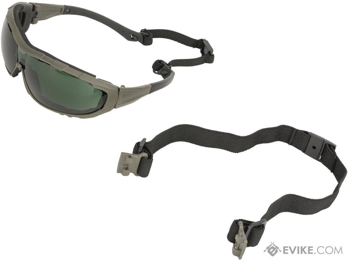 Evike.com Axis Tactical Goggles by Valken (Color: Green Frame / Smoke Lens)