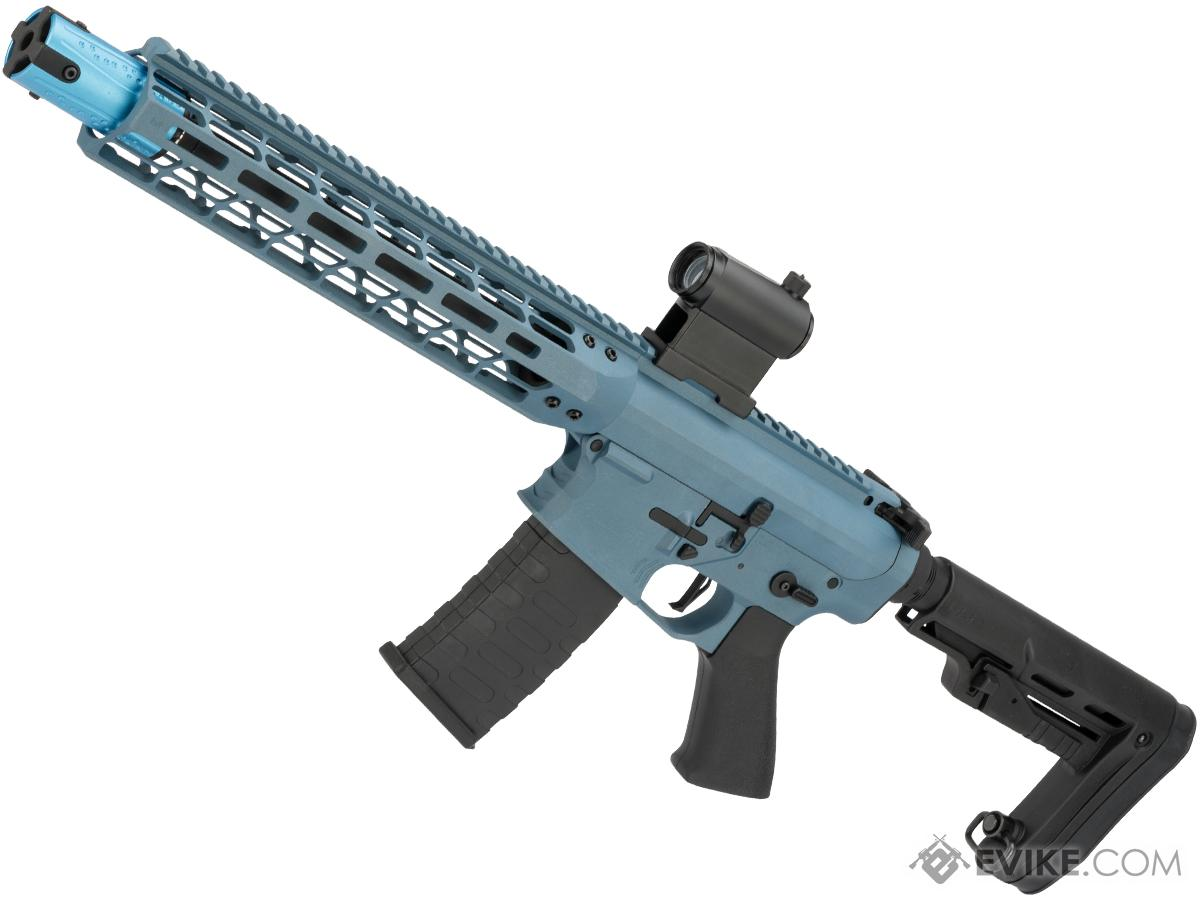 EMG Custom Cerakote  Falkor AR-15 Blitz SBR Training Weapon M4 Airsoft AEG Rifle (Color: Blue Titanium)