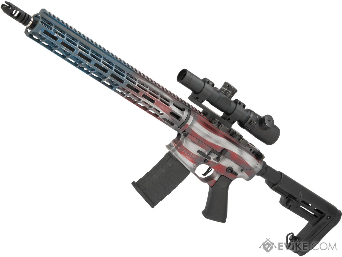 EMG Custom Cerakote  Falkor AR-15 RECCE SBR Training Weapon M4 Airsoft AEG Rifle (Color: American Flag)