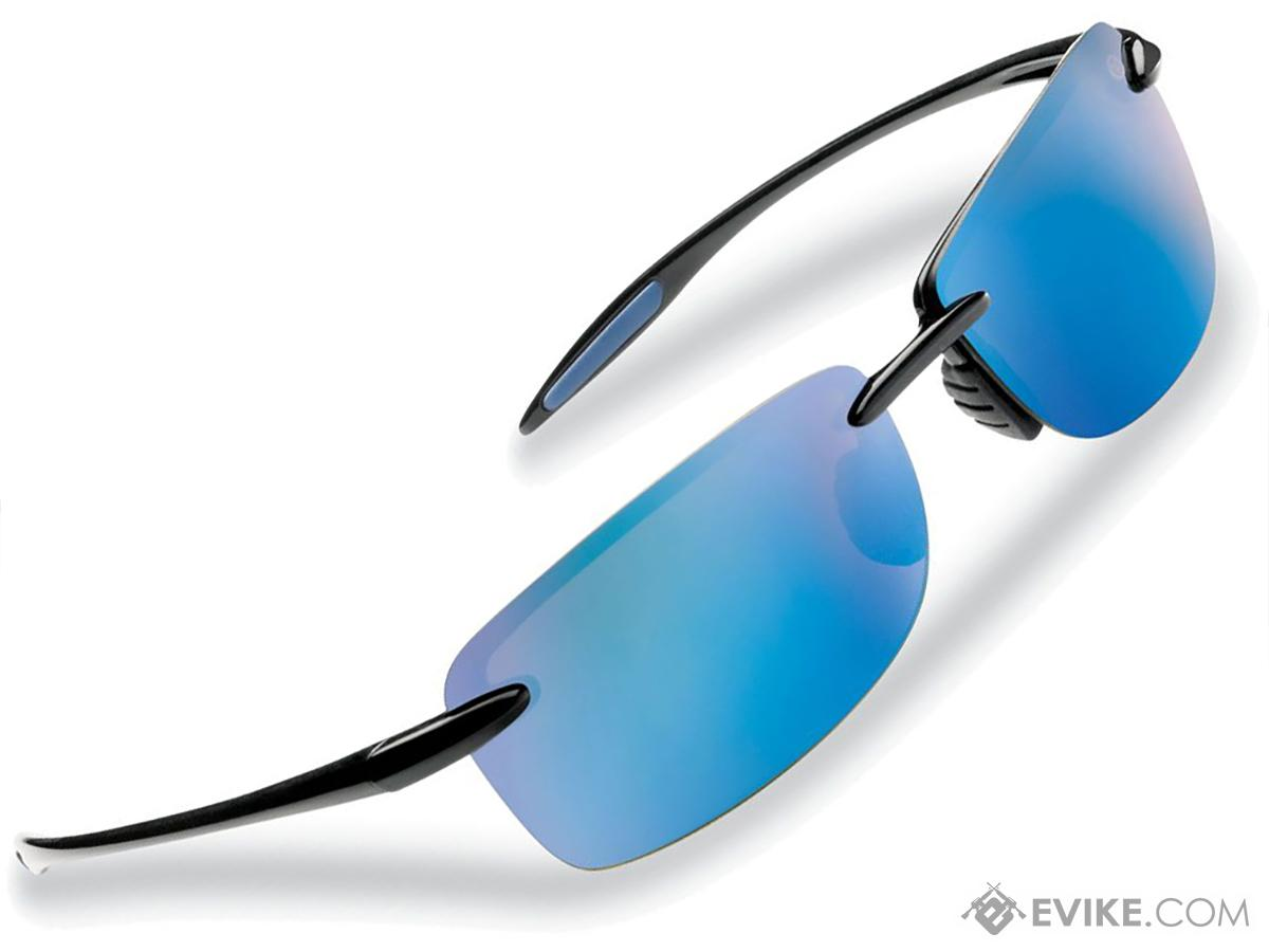 9321a06c77 Flying Fisherman Cali Rimless Sunglasses (Color  Black Smoke w  Blue Mirror  Lens)