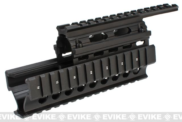 Firefield 8.65 Inch Tactical AK Carbine Quad Rail - Black