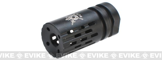 PTS Battle Comp 2.0 SCV Black Oxide Airsoft Flash Hider (Thread: 14mm Positive)