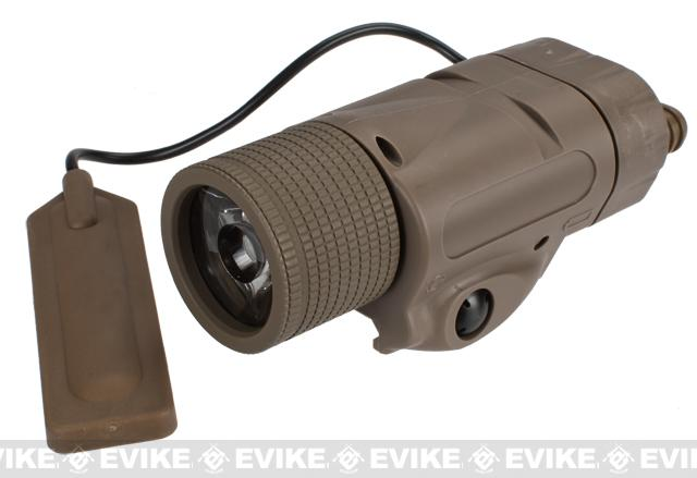 VFC V3X 190 Lumen Combat Tactical Flashlight System - Dark Earth