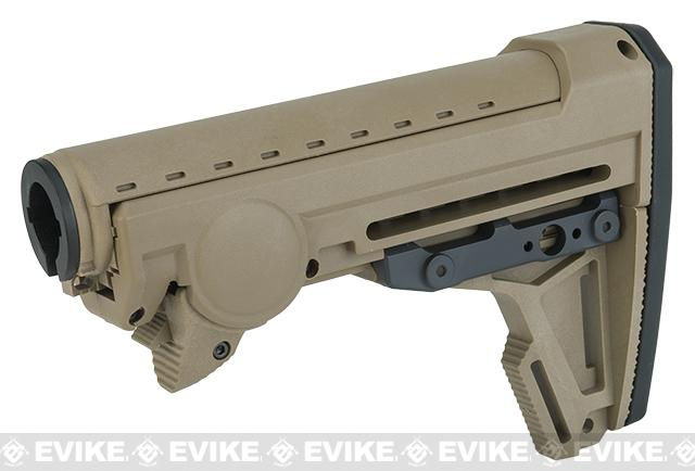 PTS Ergo F93 Pro Stock with Pad for Airsoft AEGs - Dark Earth