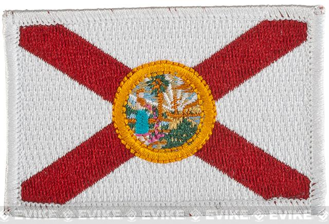 Evike.com Tactical Embroidered Flag Patch (State: Florida The Sunshine State)