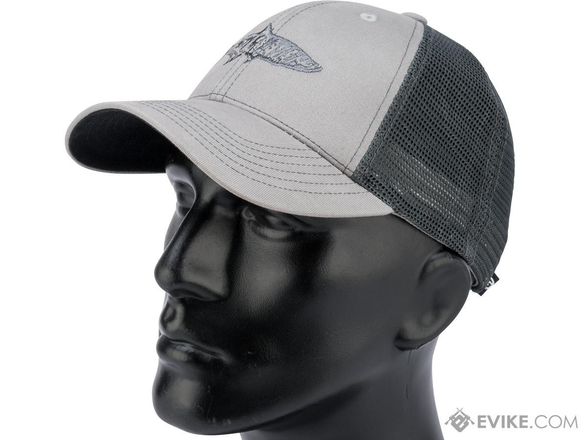 e118a5c48 Flying Fisherman Tarpon Trucker Hat w/ Embroidered Logo (Color: Gray /  Charcoal)
