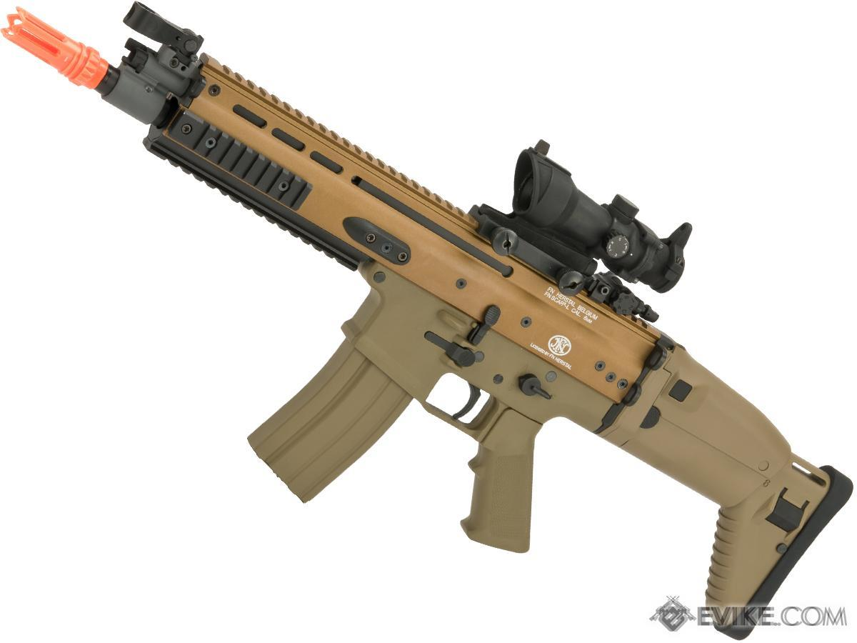 FN Herstal Licensed SCAR-L Airsoft AEG Rifle by Softair Cybergun CYMA (Color: Tan)