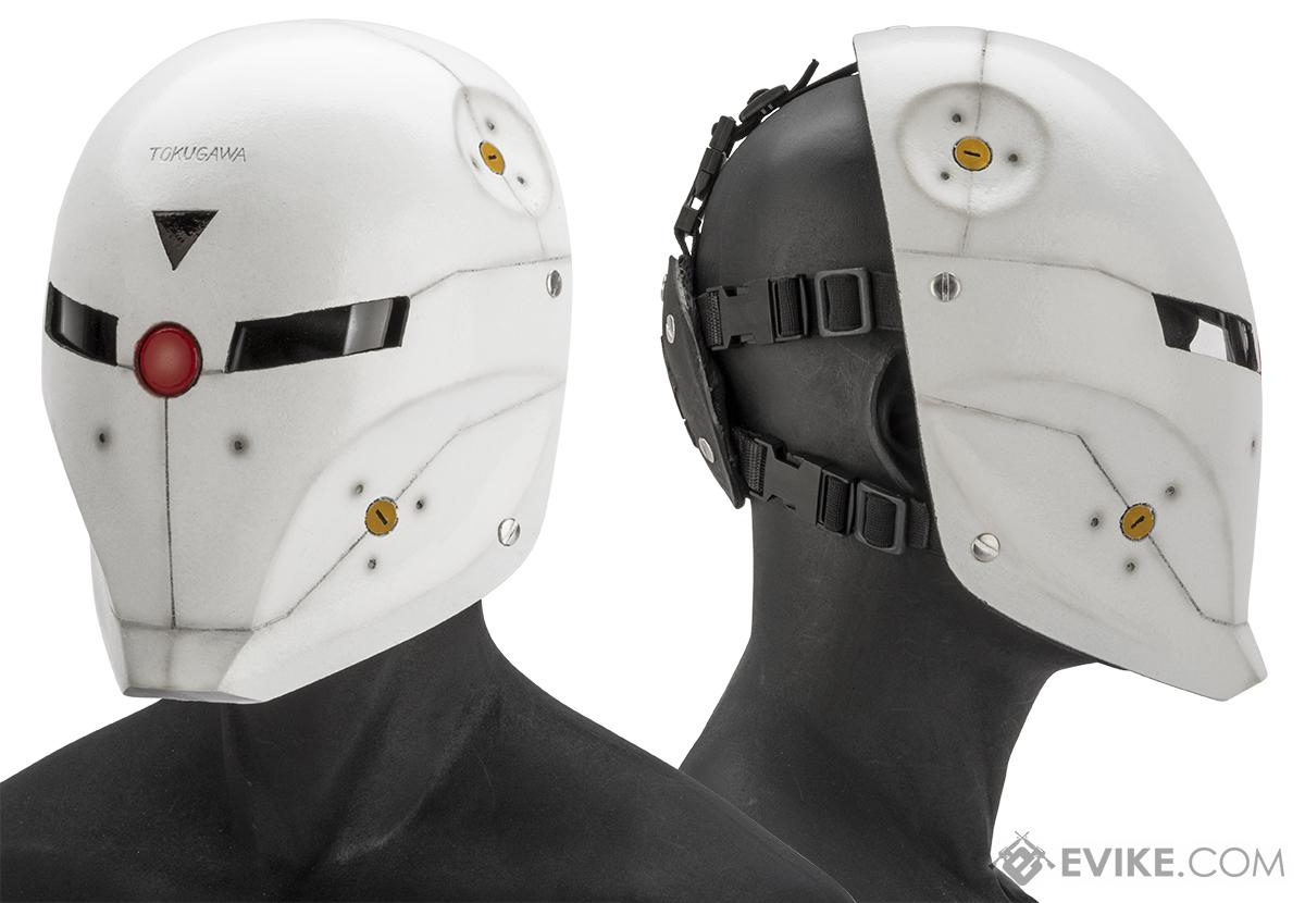 Evike.com R-Custom Fiberglass  Fox Full Face Mask  with Smoked Lenses(Color: White / Smoked Lens)