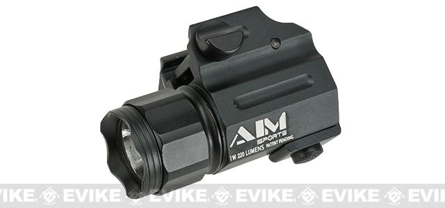 AIM Sports Sub-Compact LED Quick Release Flashlight with Color Filter Lenses