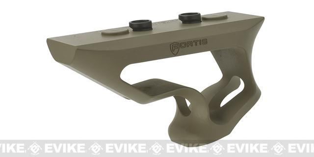 PTS® Fortis Shift™ CNC Machined Billet Aluminum Short Angled KeyMod Grip (Color: Dark Earth)