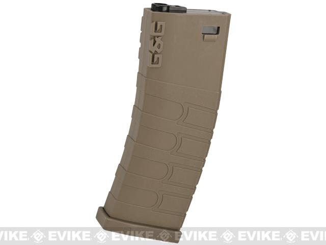 G&G Polymer 120rd Mid-Cap Magazine for M4 / M16 Series Airsoft AEG Rifles (Color: Desert / Single Magazine)