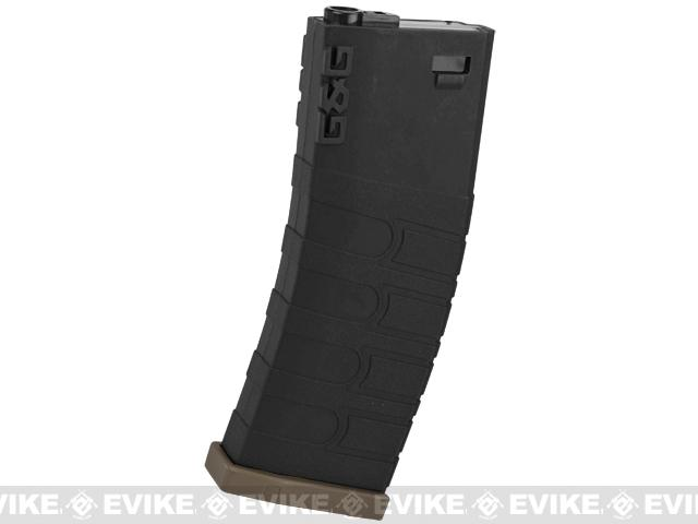 G&G Polymer 120rd Mid-Cap Magazine for M4 / M16 Series Airsoft AEG Rifles (Color: Black w/ Desert Baseplate / Single Magazine)