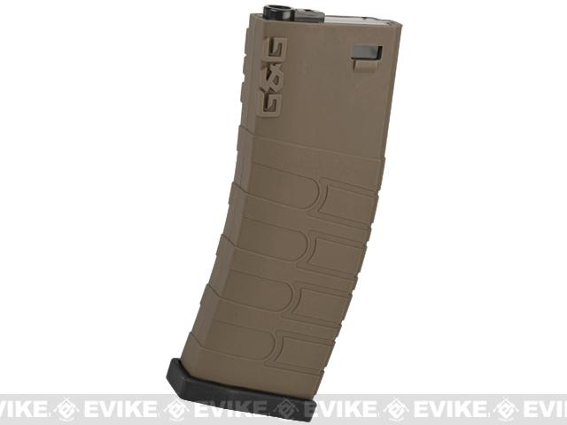 G&G 120rd Polymer Mid-cap Magazine for M4 / M16 Series Airsoft AEG Rifles (Color: Desert w/ Black Baseplate)