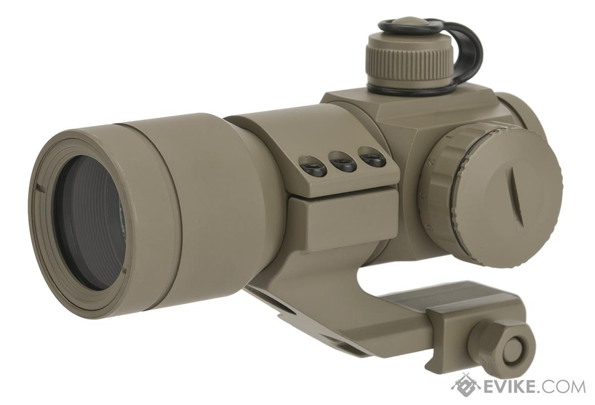G&G Tactical Red/Green/Blue Dot with Cantilever Weaver Mount - Tan