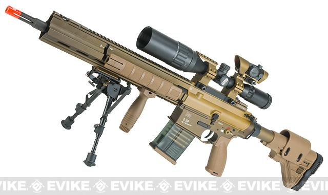Elite Force / Umarex H&K G28 Airsoft AEG Designated Marksman Rifle by VFC - Dark Earth / Standard Edition