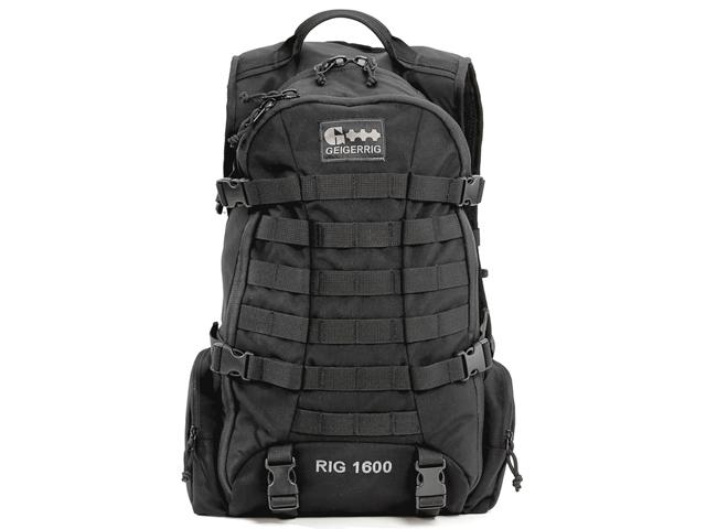 GEIGERRIG RIG1600 Tactical Hydration Pack w/ 2L Hydration Engine (Color: Black)