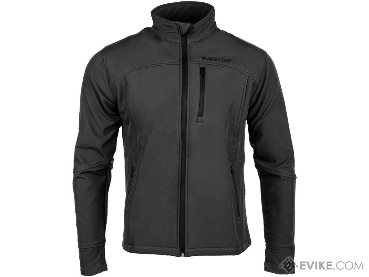 Evike Spectre Water-Resistant Softshell Jacket (Color: Black / Medium)