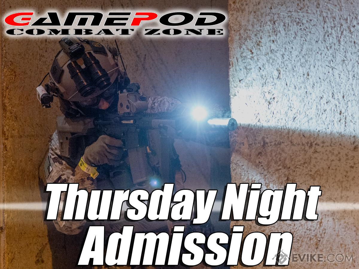 Gamepod Combat Zone Field Admission Pass (Ticket: Thursday Night Ops)