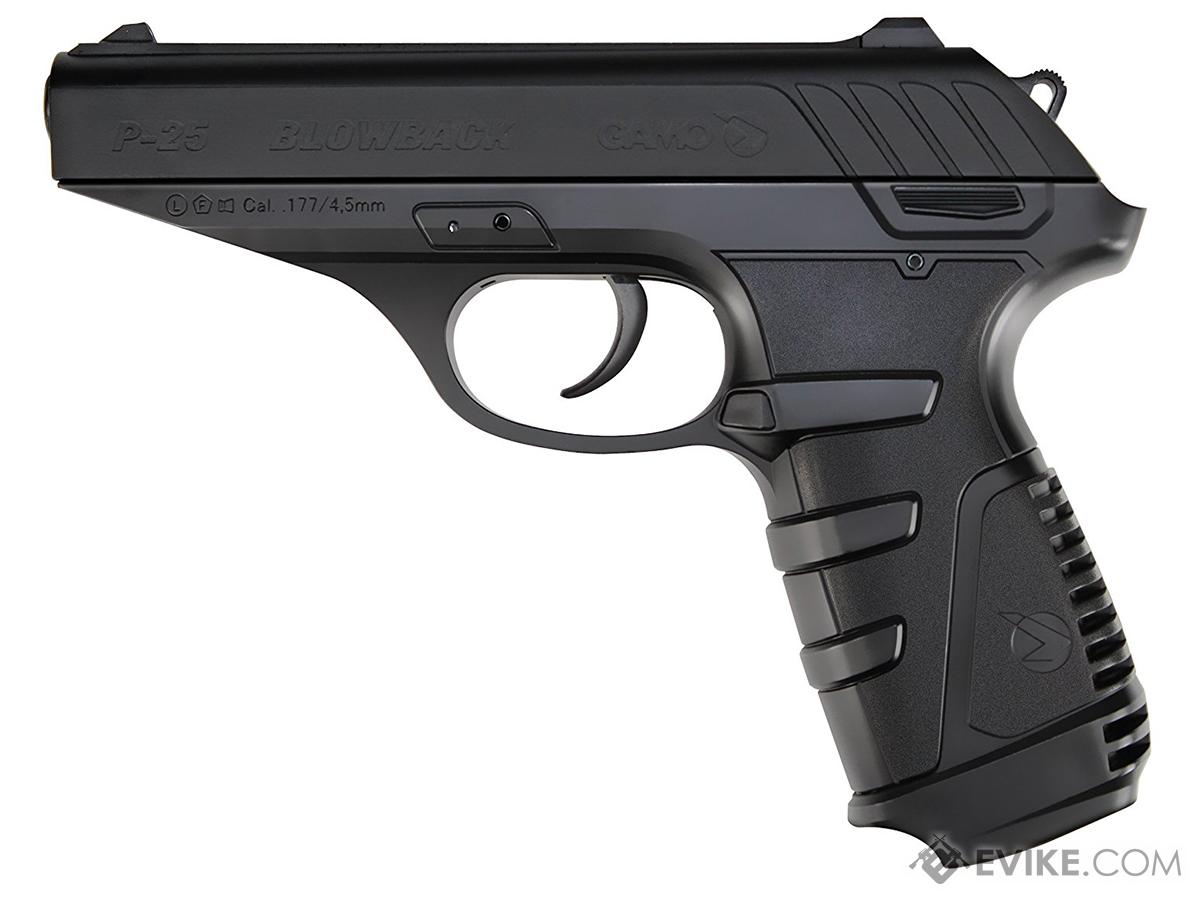 GAMO P-25 Co2 Blowback  177 cal  (4 5mm) Airgun Pistol, MORE