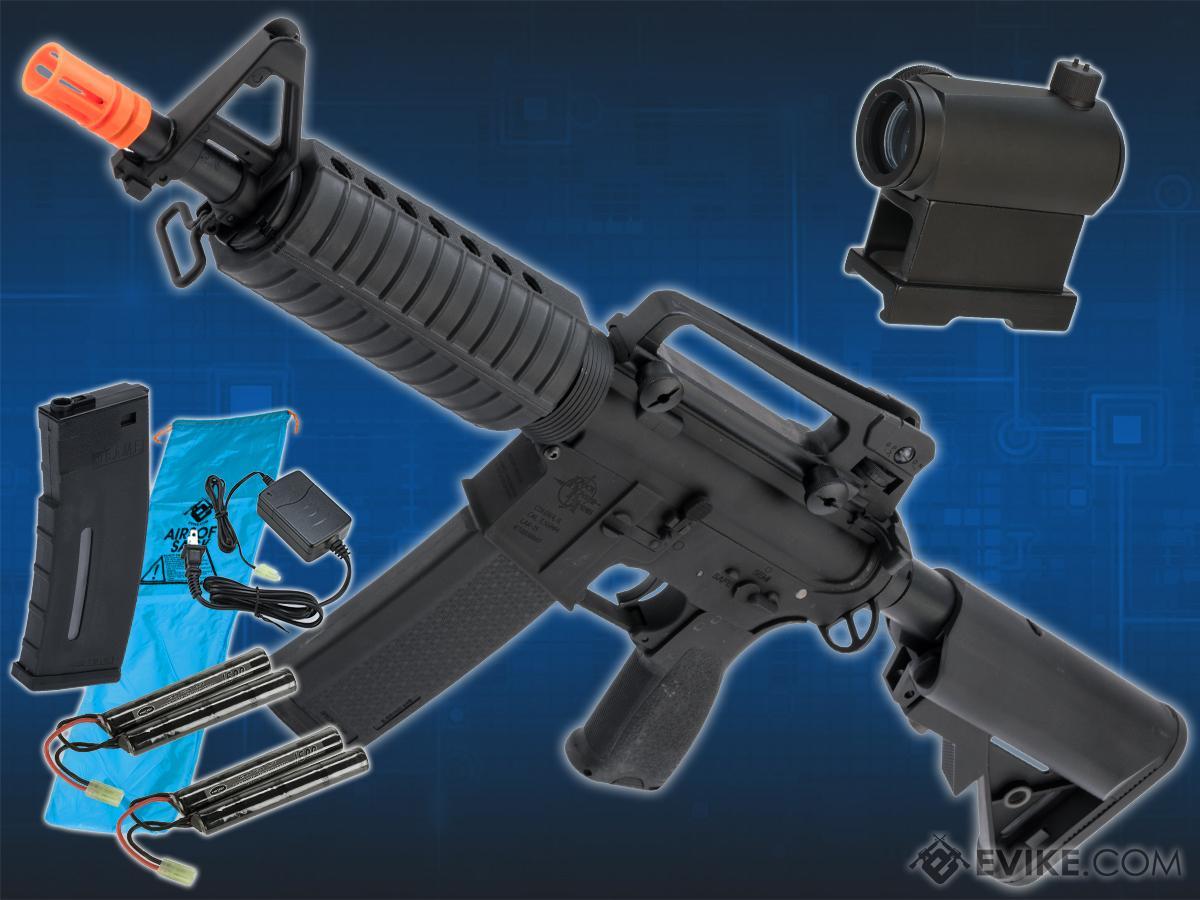 Go Airsoft Package Specna Arms / Rock River Arms Licensed EDGE Series M4 AEG (Model: M4 SBR / Black SA-E02)
