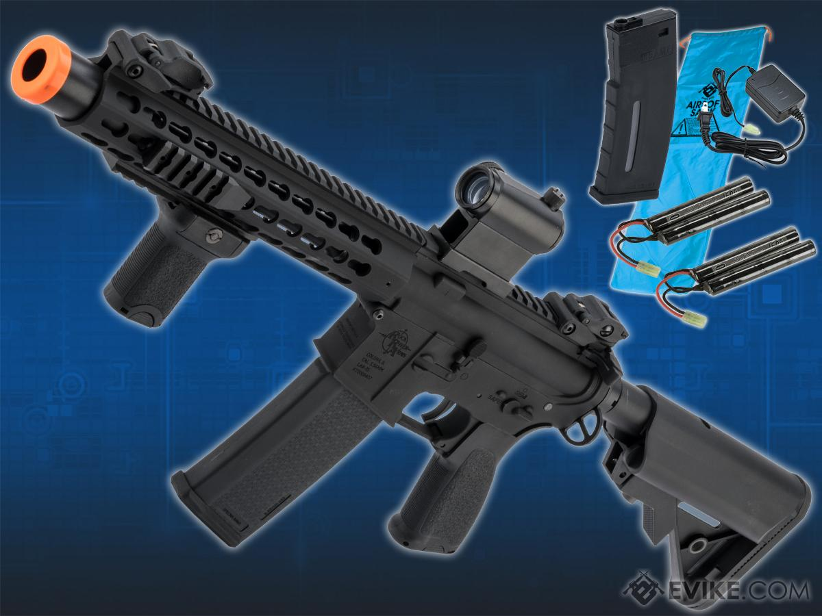 Go Airsoft Package Specna Arms / Rock River Arms Licensed EDGE Series M4 AEG (Model: M4 SBR Keymod / Black SA-E07)