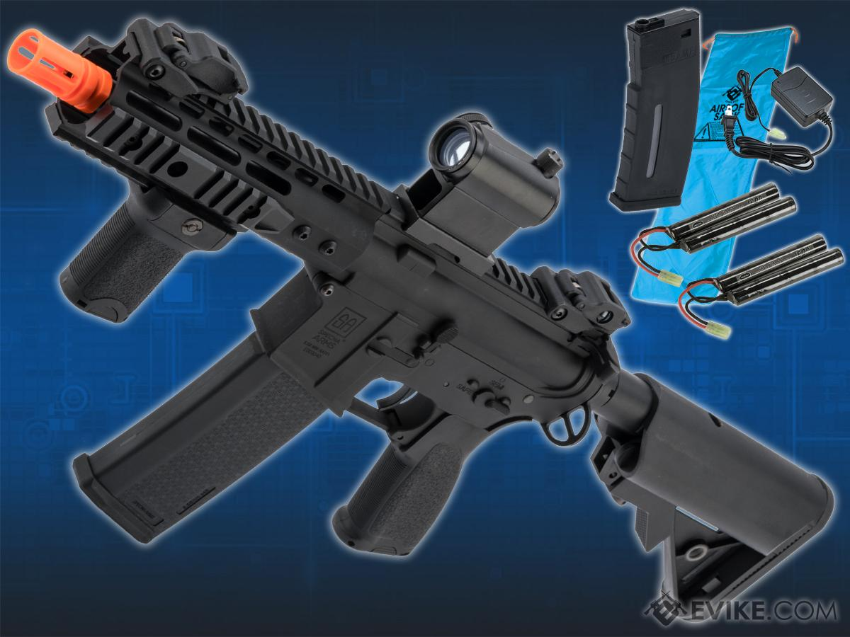Go Airsoft Package Specna Arms / Rock River Arms Licensed EDGE Series M4 AEG (Model: M4 PDW Keymod / Black SA-E12)