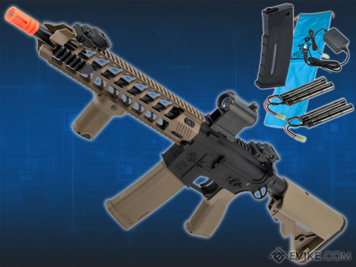 Go Airsoft Package Specna Arms / Rock River Arms Licensed EDGE Series M4 AEG (Model: M4 Archer / 2-Tone Black & Tan SA-E13)