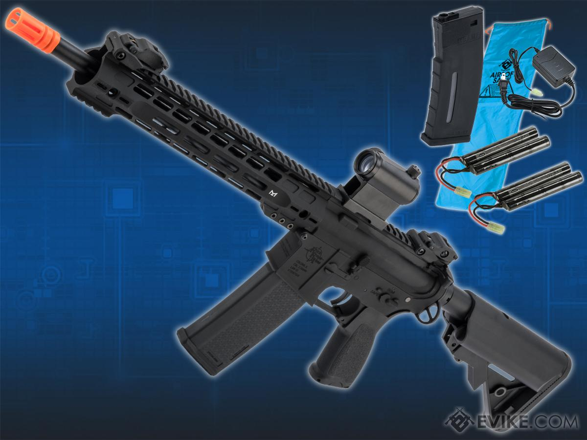 Go Airsoft Package Specna Arms / Rock River Arms Licensed EDGE Series M4 AEG (Model: M4 Carbine Slim M-LOK / Black SA-E14)