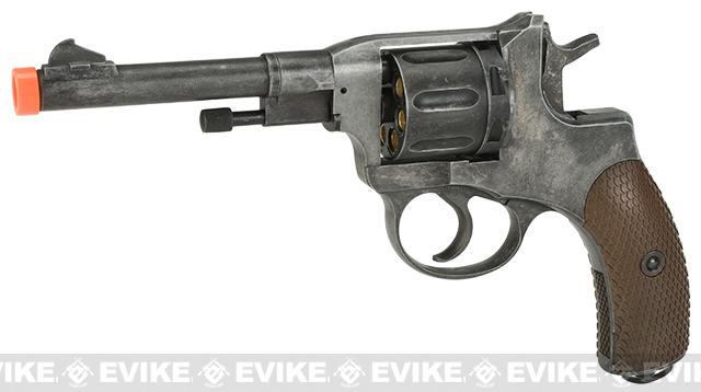 Gun Heaven  Nagant M1895 Airsoft CO2 Revolver (Color: Weathered)