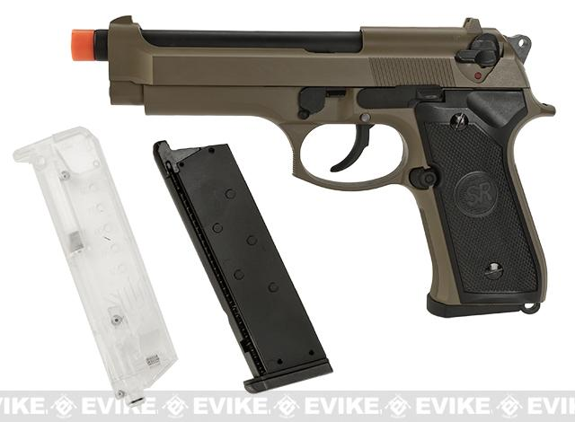 SRC Hybrid SR-92 M92 Airsoft Green Gas Blow Back Pistol Kit (Color: Dark Earth)