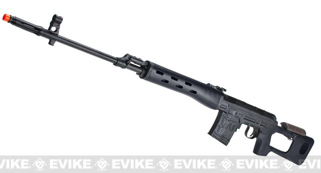 AIM Gas Blowback Russian Classic AK SVD Airsoft GBB Sniper Rifle (Color: Black)