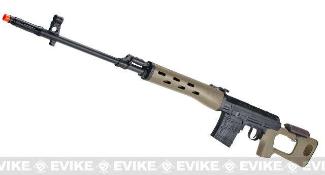 AIM Gas Blowback Russian Classic AK SVD Airsoft GBB Sniper Rifle (Color: Desert Tan)
