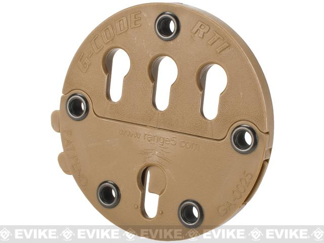 G-Code RTI Wheel Holster Adaptor - Coyote Brown