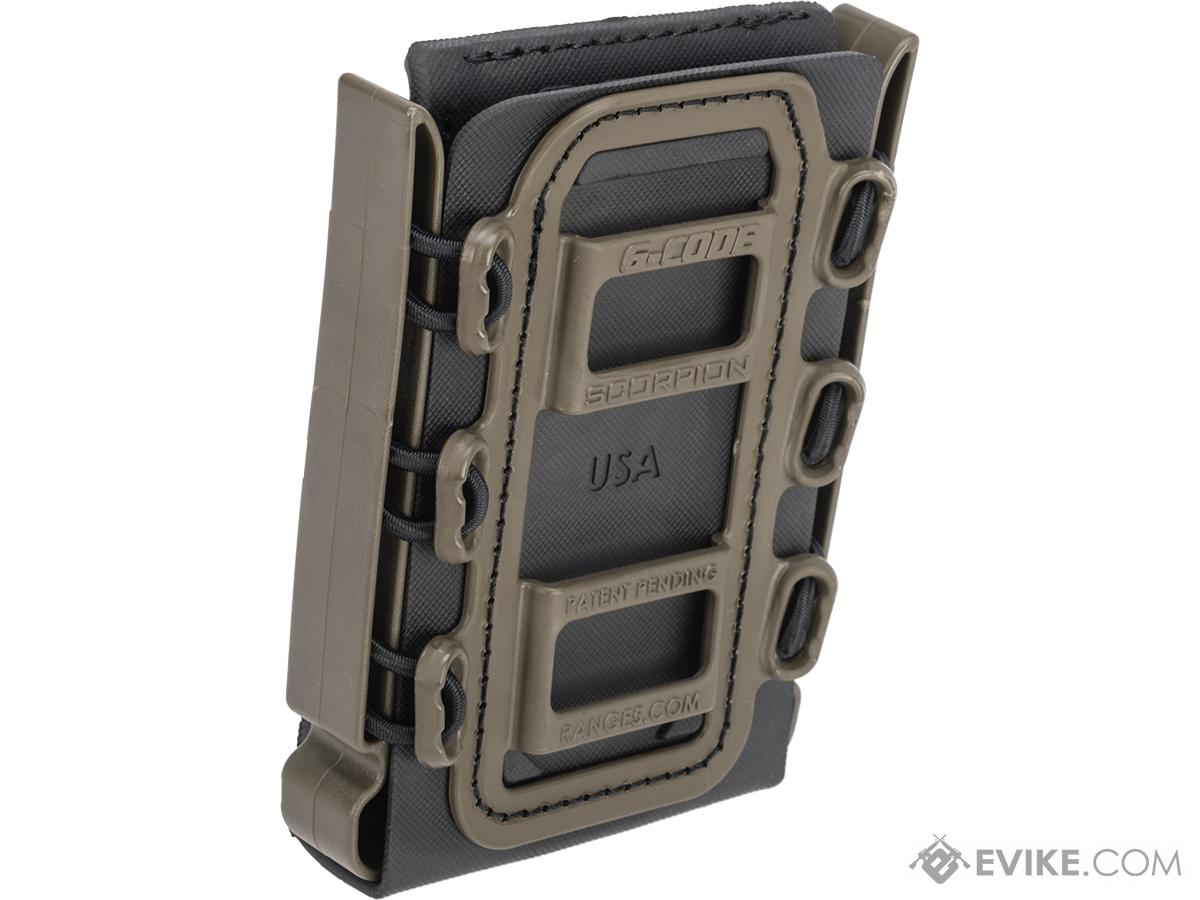 G-Code Soft Shell Scorpion Rifle Magazine Carrier with R1 Molle Clips (Color: Green Frame / Black Shell)