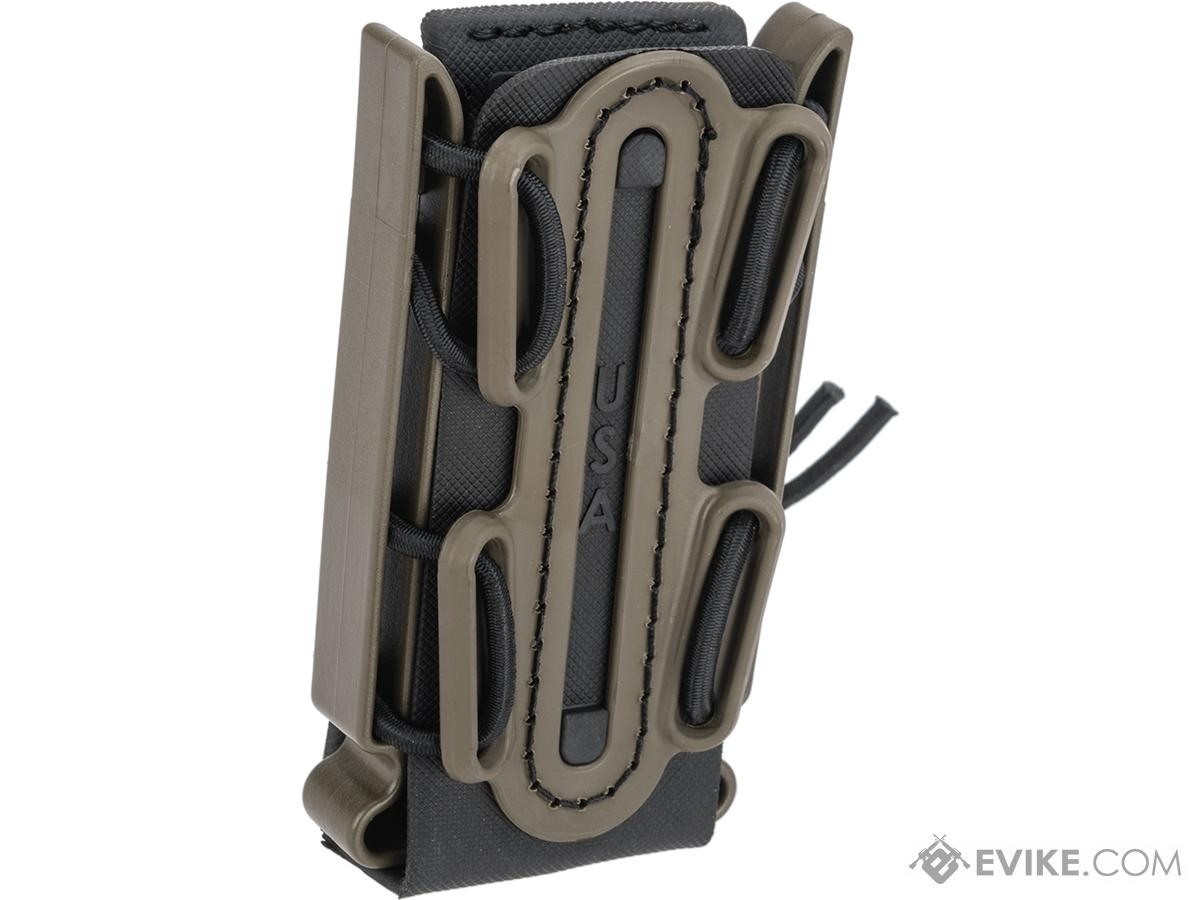 G-Code Soft Shell Scorpion Tall Pistol Magazine Carrier with P1 Molle Clip (Color: Green Frame / Black Shell)