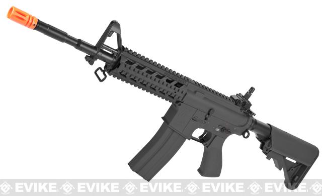 G&G Custom Full Metal M4 Commando Raider Airsoft AEG Rifle w/ Crane Stock (Package: Black / Add 9.6 Butterfly Battery + Smart Charger)