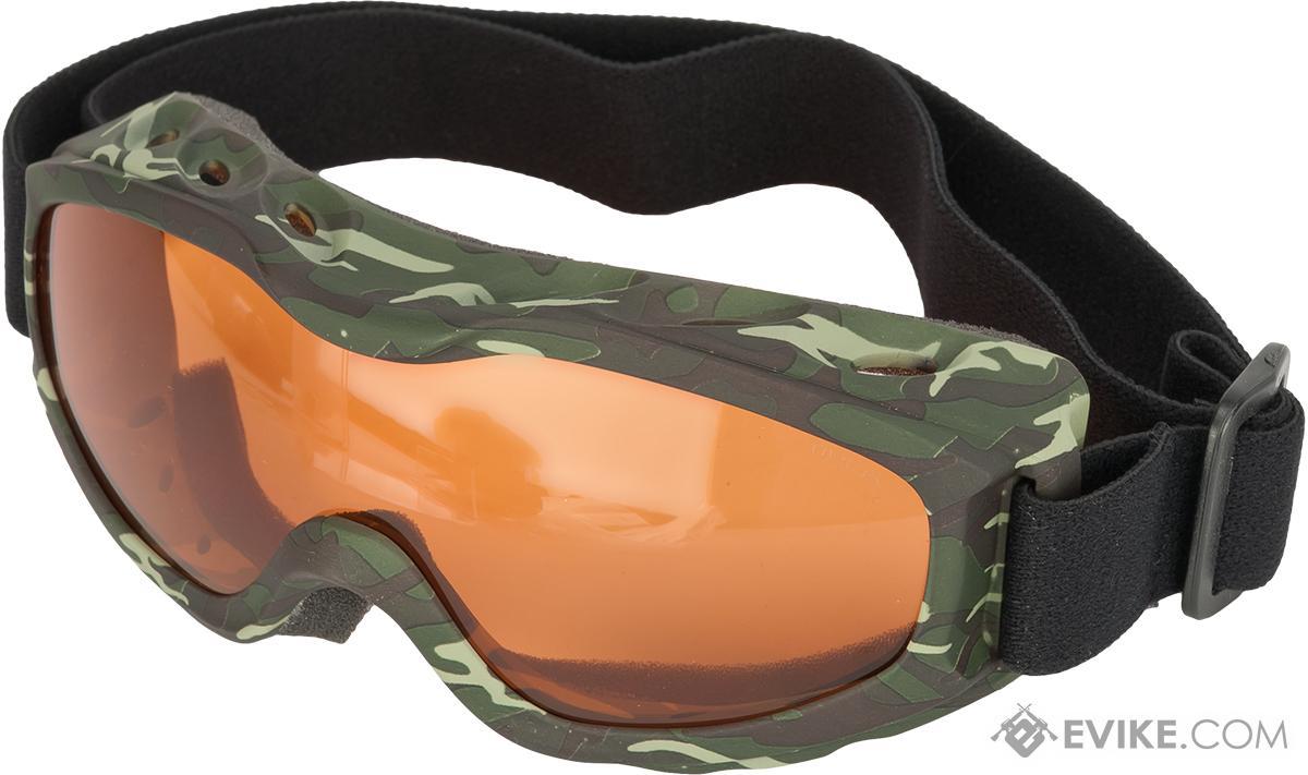 Guard-Dogs Evader II FogStopper Goggles  Full Seal - Camo / Amber
