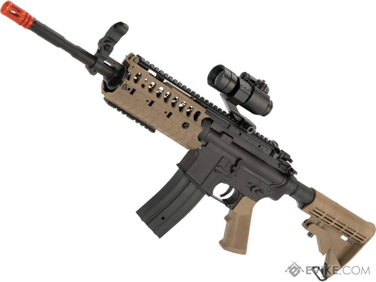 JG M4 Tactical-System V.II Full Size Airsoft AEG Rifle (Color: Tan)