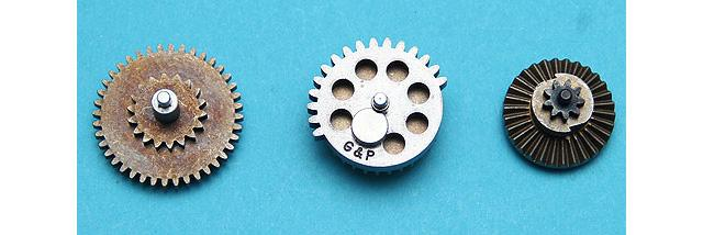 G&P CNC Steel Gear Set for Airsoft AEG Gearbox w/ Sector Gear Clip - High Torque