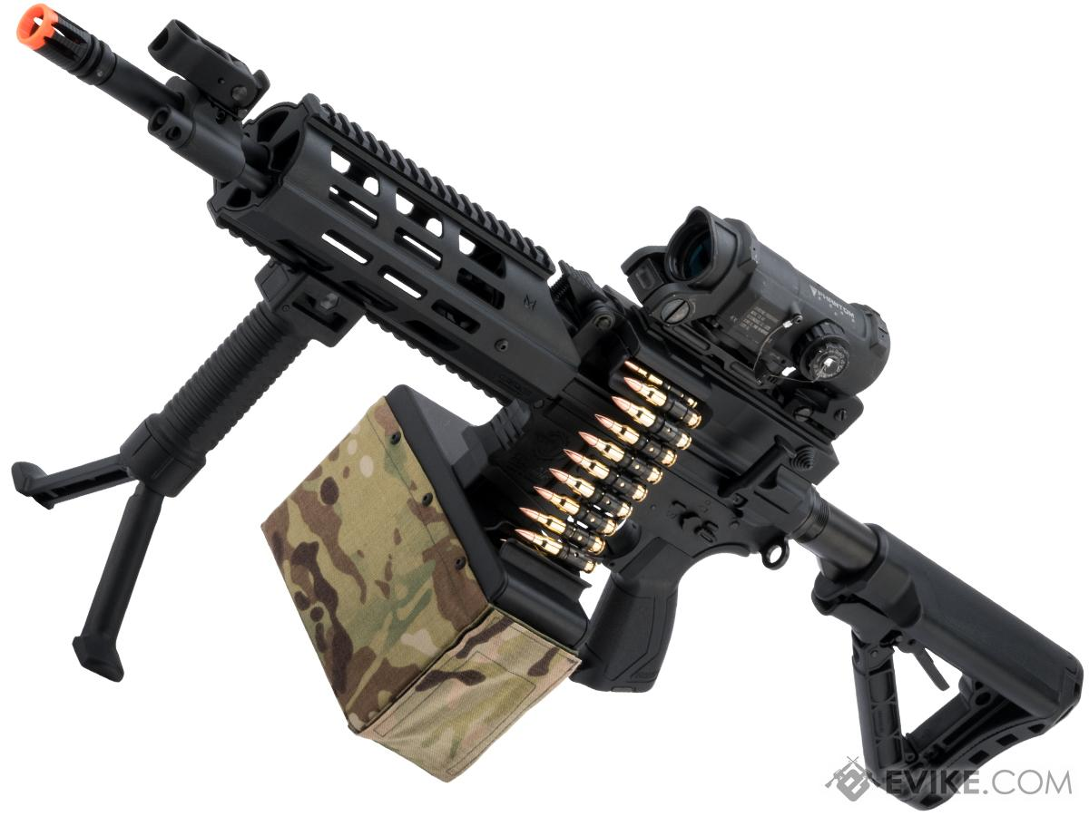 G&G CM16 LMG Airsoft AEG Light Machine Gun (Color: Black)