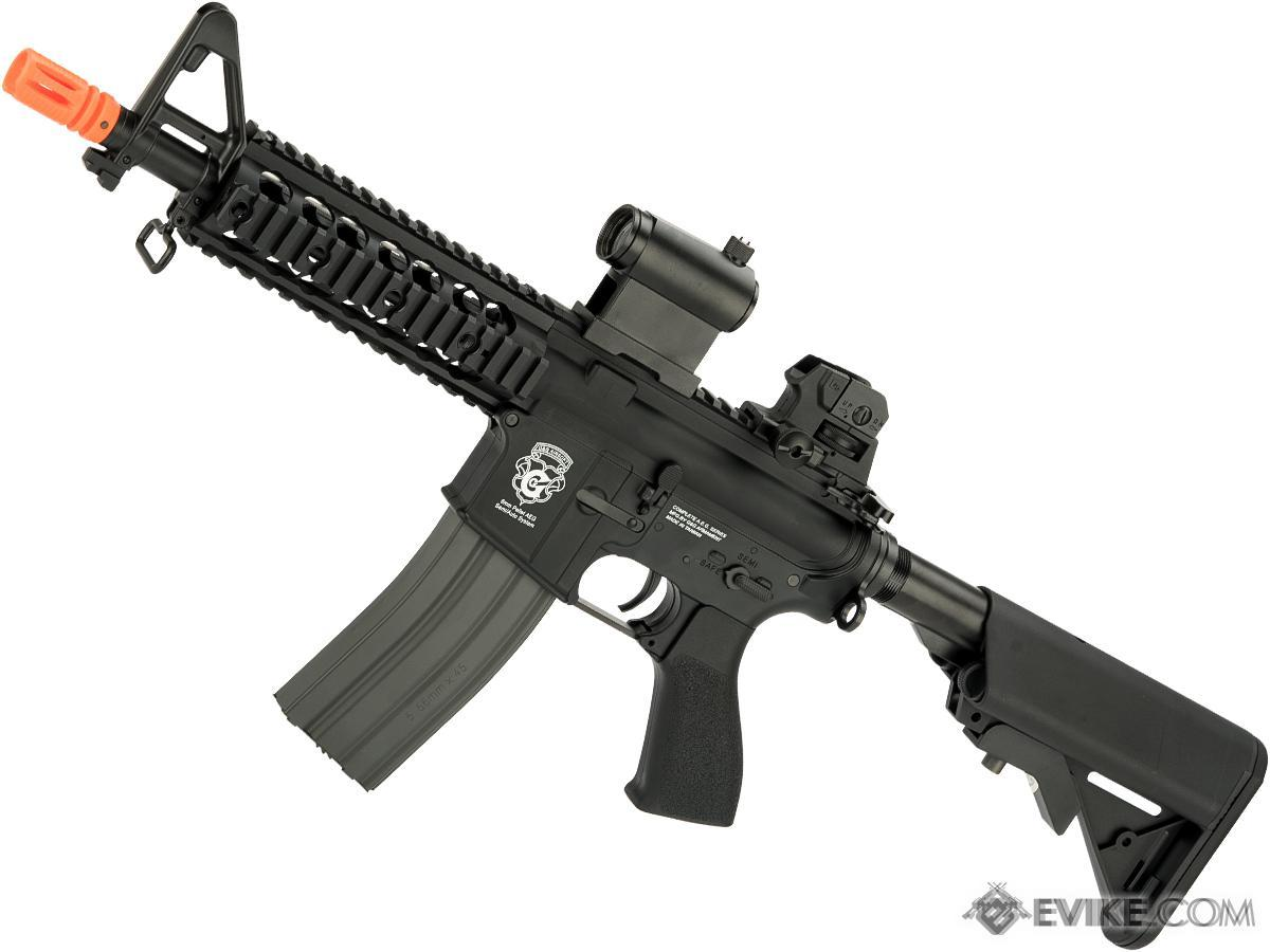G&G GR15 Raider CQB-R Electric Blow Back Airsoft AEG Rifle (Package: Black / Gun Only)