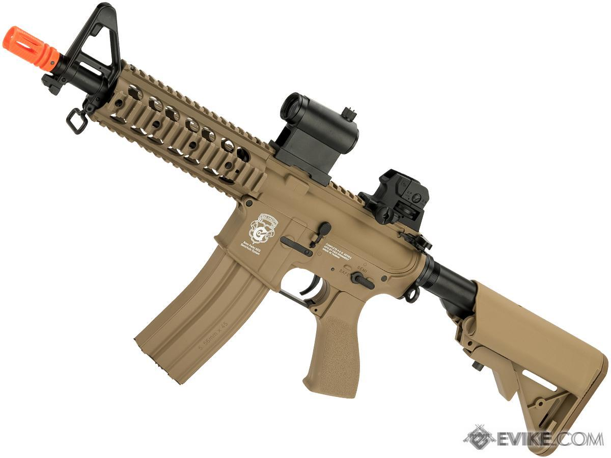 G&G GR15 Raider CQB-R Electric Blow Back Airsoft AEG Rifle (Package: Tan / Gun Only)