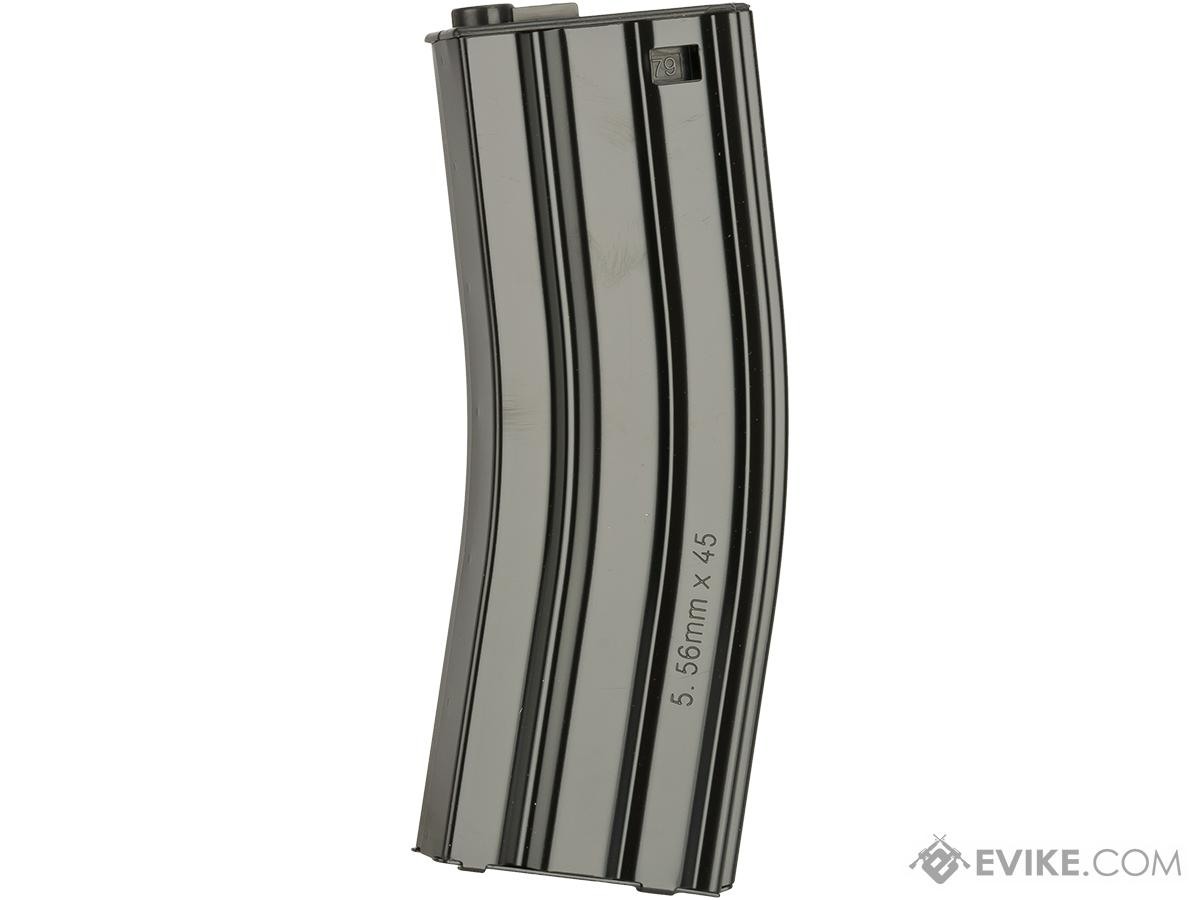 G&G Metal 79rd Mid-Cap Magazines for M4/M16 Series Airsoft AEG Rifles (Color: Black / Single Magazine)